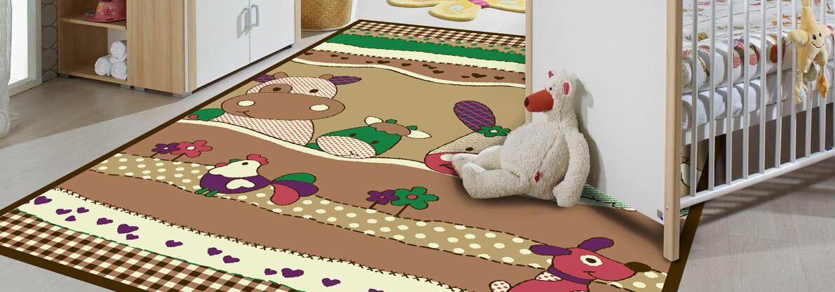 فرش برای اتاق کودک با طرح های کوکانه